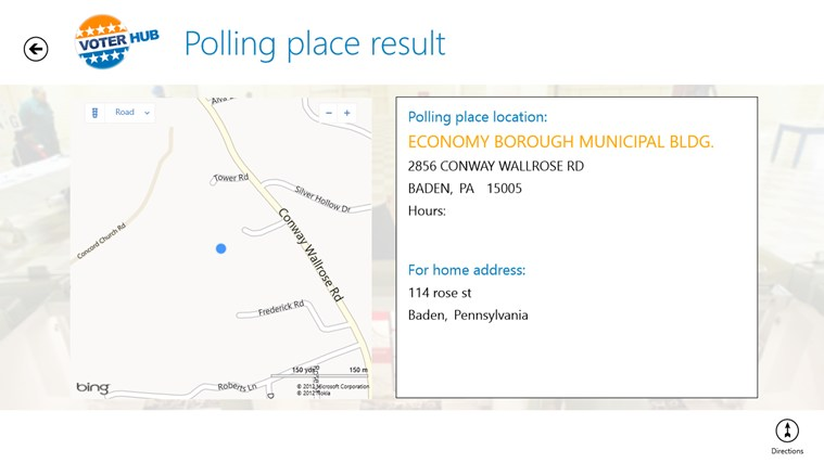 Voterhub screen shot 6