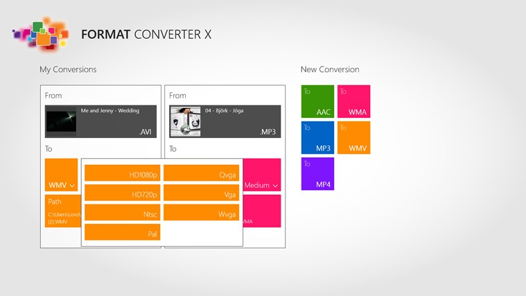 Format Converter X screen shot 2
