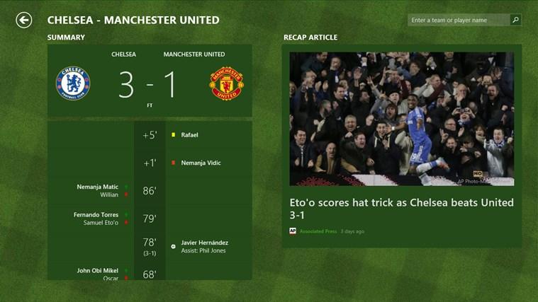 Bing Sports screen shot 4