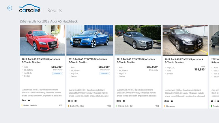Carsales screen shot 2