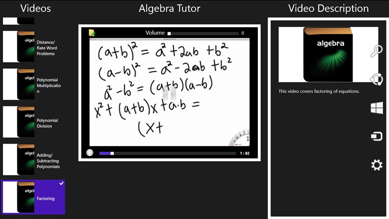 Algebra Tutor screenshot 2