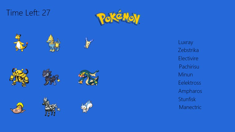All Electric Type Pokemon Pokemon Match up Type