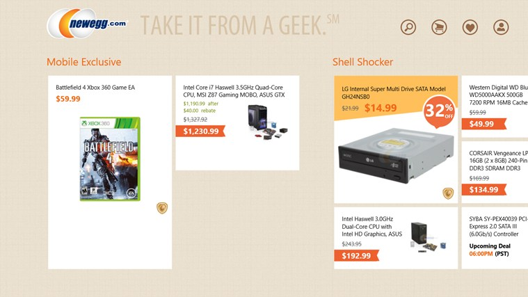 Newegg screen shot 0