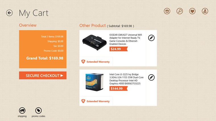 Newegg screen shot 2