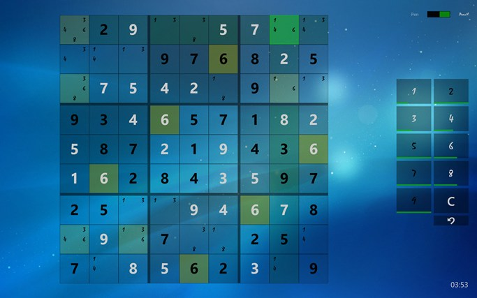 Sudoku Touch screen shot 2