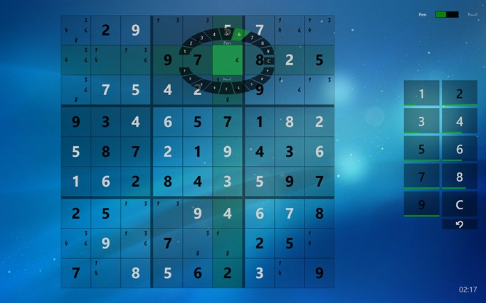 Sudoku Touch screen shot 6