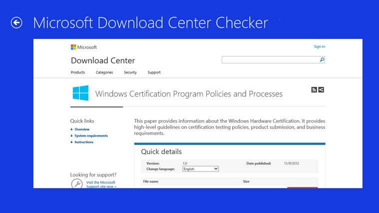 microsoft download center Download add ons, extensions, service packs, and other tools to use with your windows software.