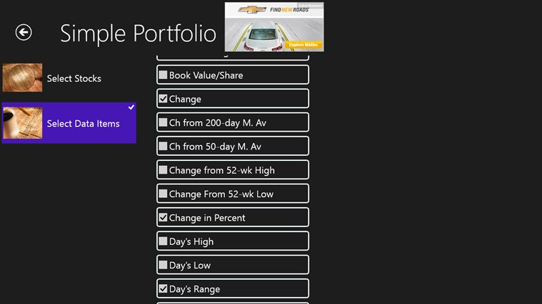 Simple Portfolio screen shot 6