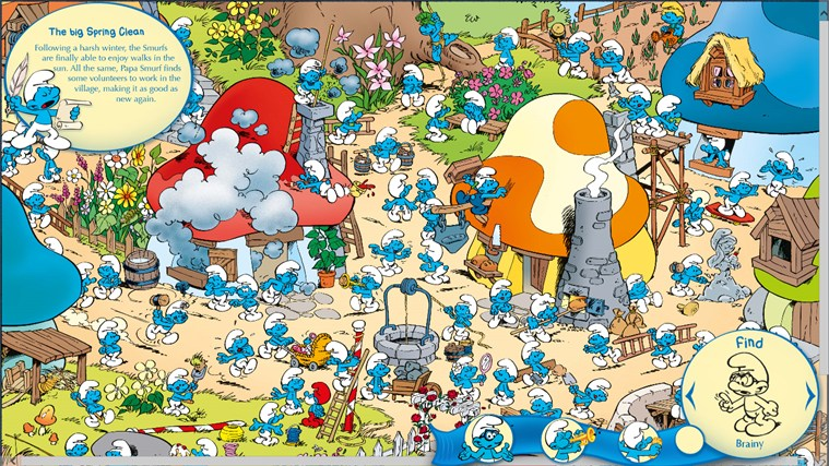 The Smurfs Hide & Seek with Brainy-skärmbild 2