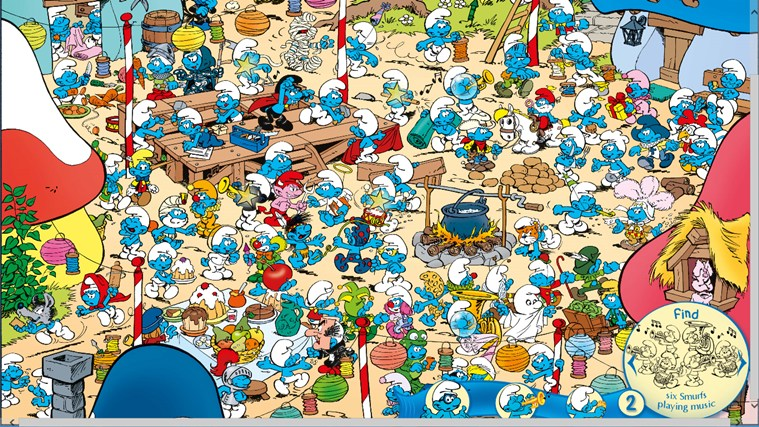The Smurfs Hide & Seek with Brainy-skärmbild 4