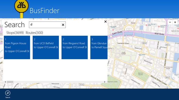 BusFinder screen shot 2