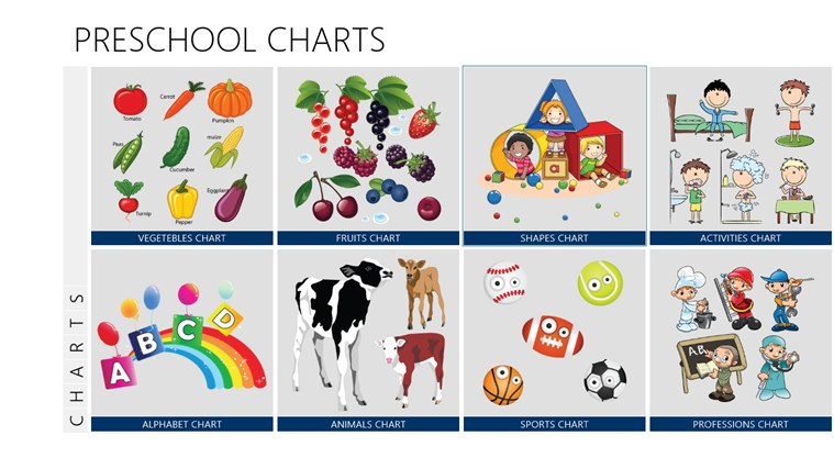 Number Names Worksheets preschool color chart : Preschool Charts