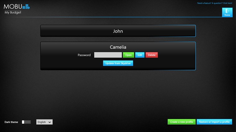 MoBu - Financial management full screenshot