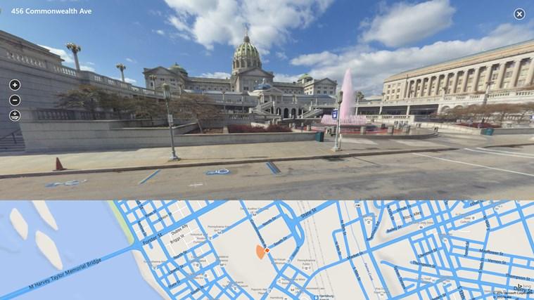 Bing Maps Preview screen shot 2