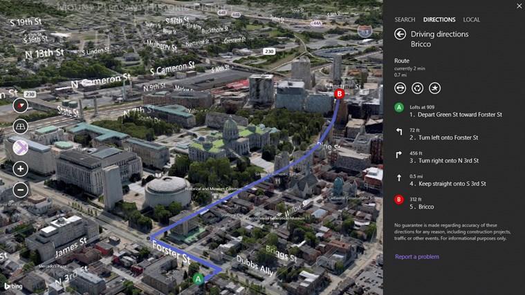 Bing Maps Preview screen shot 4