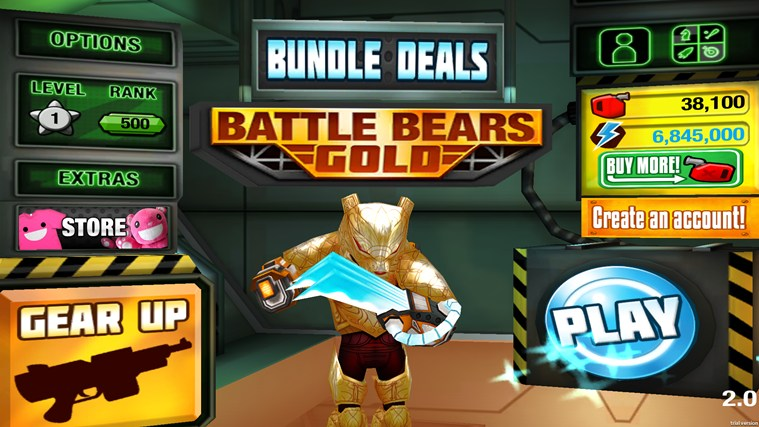 Battle Bears Gold screen shot 0