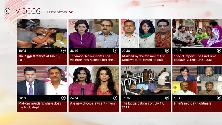 NDTV screen shot 4