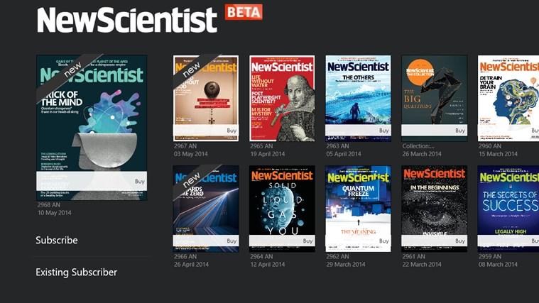 New Scientist screen shot 0