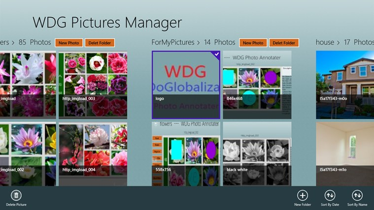 Pictures Manager screenshot