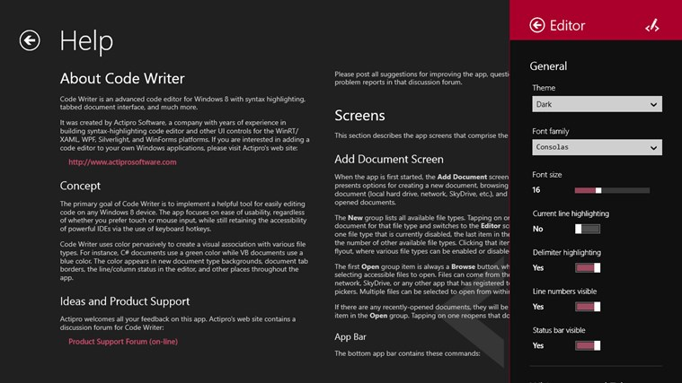 Code Writer screen shot 6