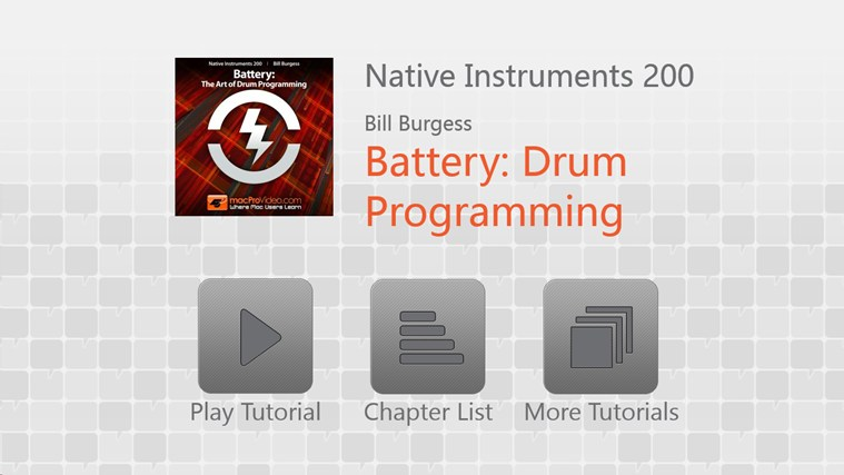 Native Instruments 200 - Battery: Drum Programming screen shot 0
