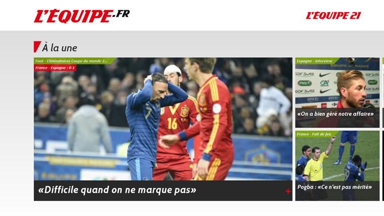 L'Equipe.fr capture d'écran 0