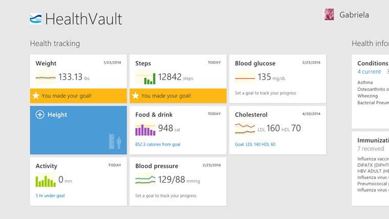 HealthVault screen shot 0