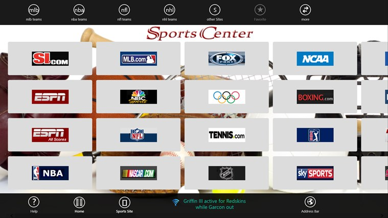Sports Center screen shot 0