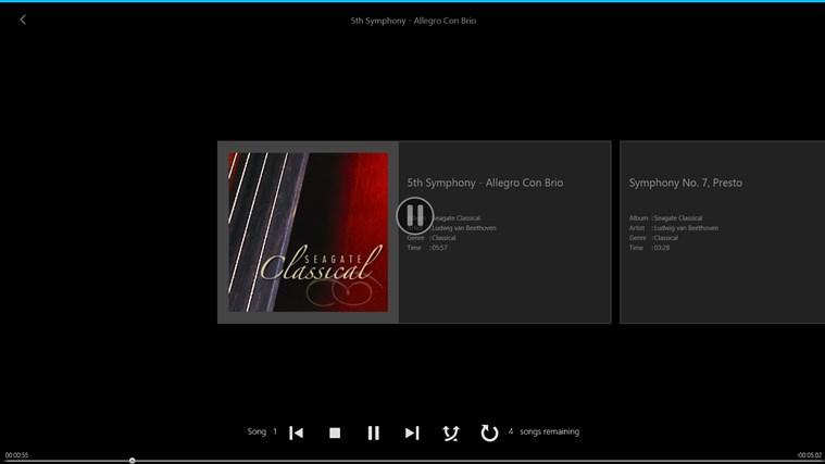 Seagate Media screen shot 2