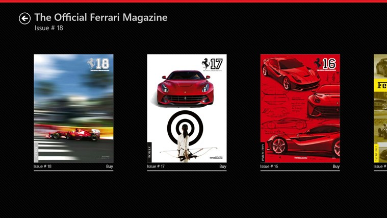 The Official Ferrari Magazine screen shot 0