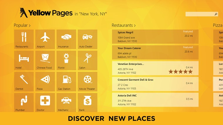 Yellow Pages screen shot 0