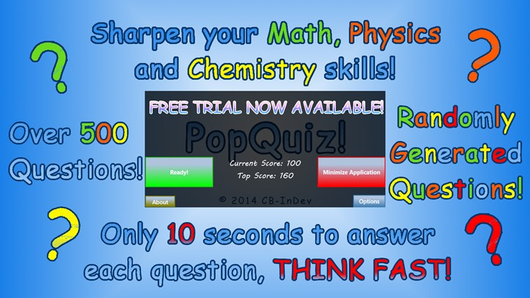 PopQuiz! screen shot 0