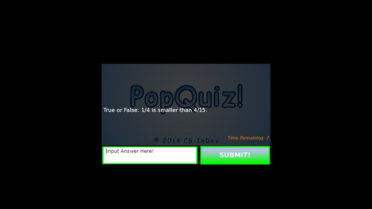 PopQuiz! screen shot 4