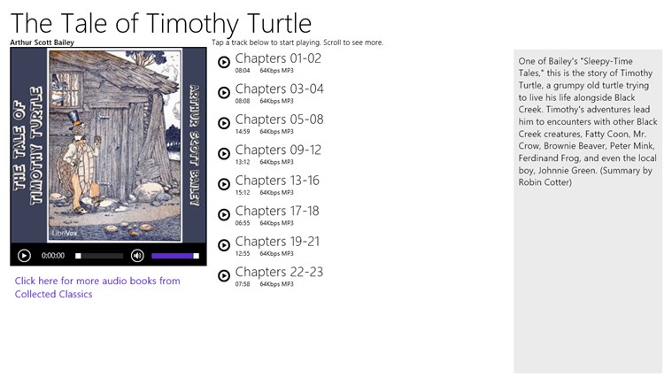 The Tale of Timothy Turtle - Arthur Scott Bailey snimak ekrana 0