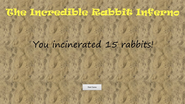 The Incredible Rabbit Inferno screen shot 2