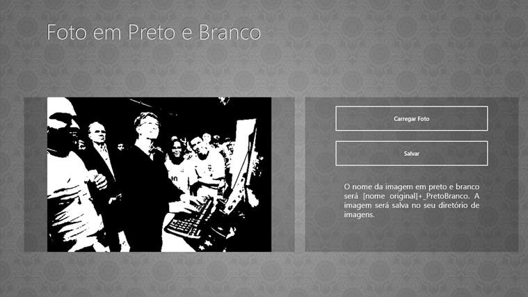 Foto em Preto e Branco screen shot 2
