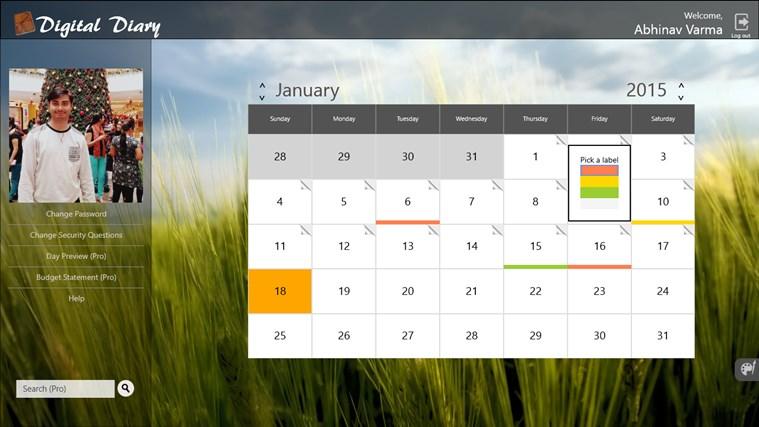 Digital Diary screen shot 6