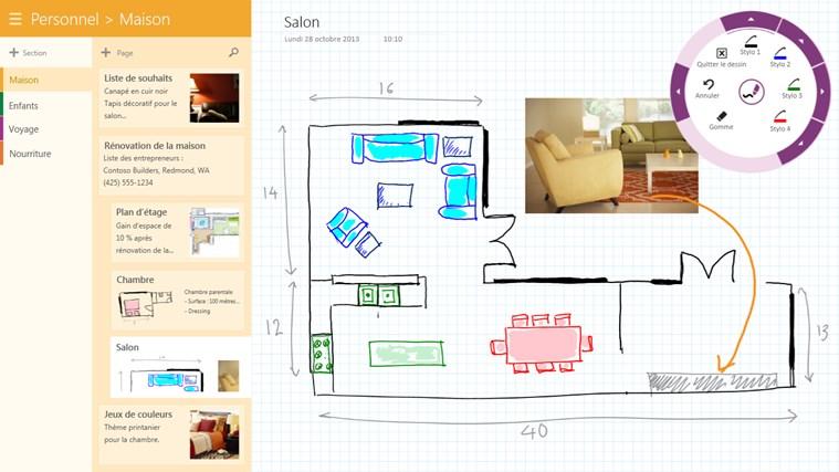 OneNote capture d'écran 2