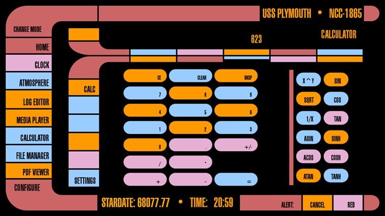 LCARS Interface screen shot 4
