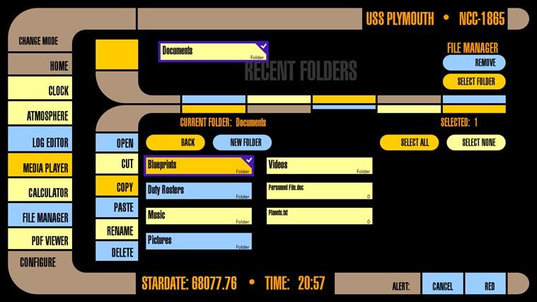 LCARS Interface screen shot 6