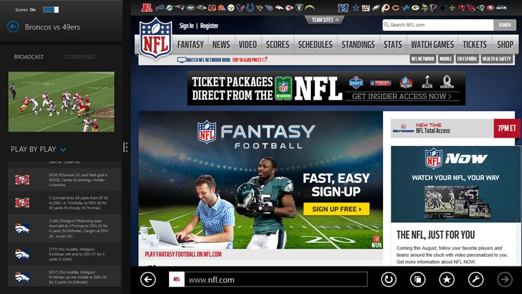 NFL Preseason Live screen shot 2