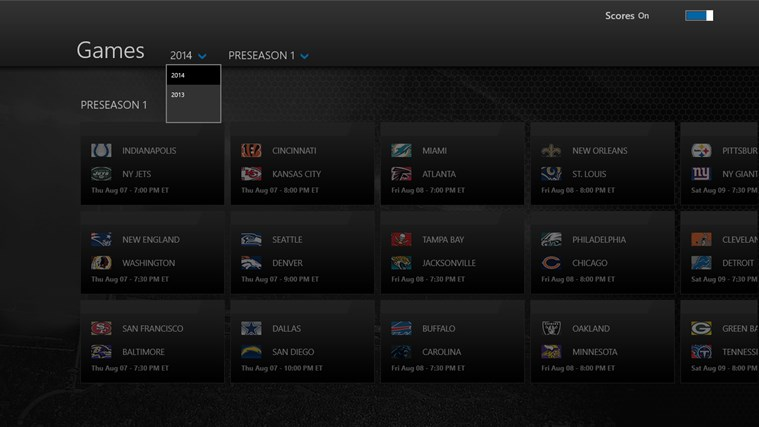 NFL Preseason Live screen shot 4