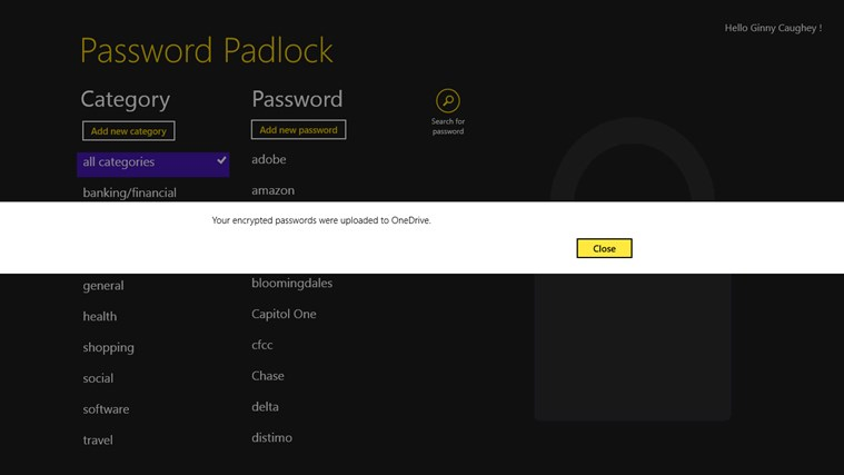 Password Padlock screen shot 4