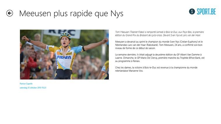 Sportbe capture d'écran 2