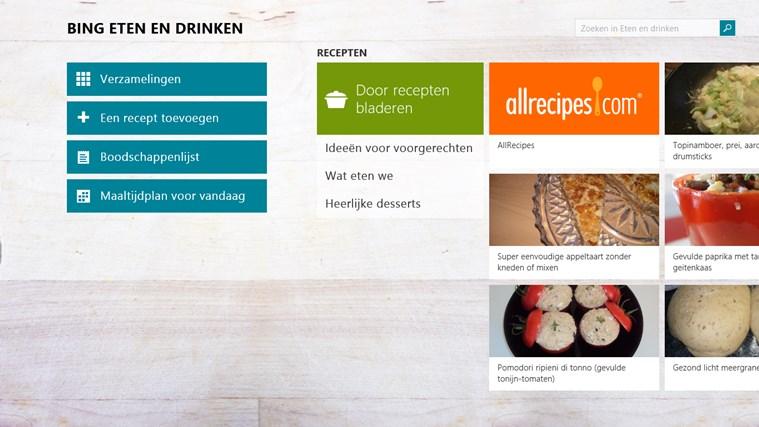 Bing Eten en drinken schermafbeelding 0