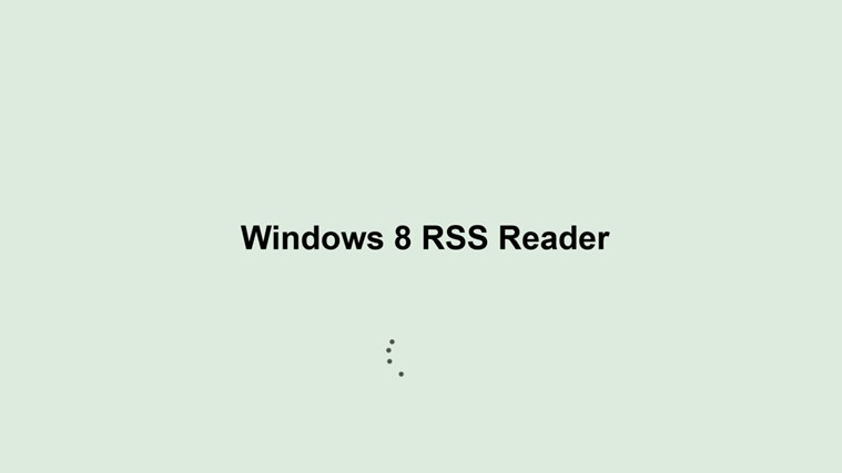 Windows 8 RSS Reader screen shot 0