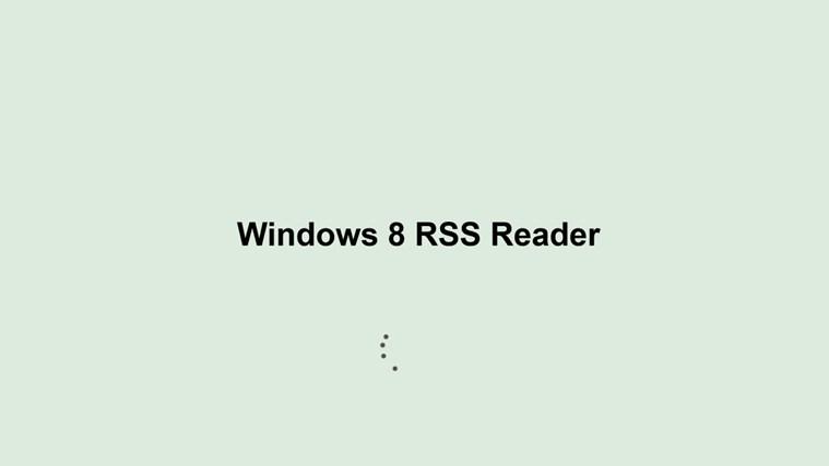 Windows 8 RSS Reader screen shot 0