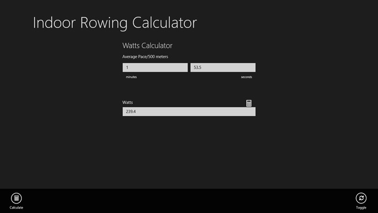 Indoor Rowing Calculator screen shot 4