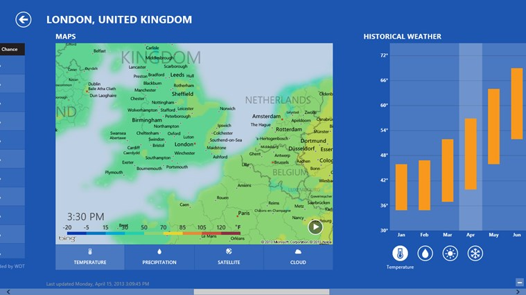 MSN Weather screen shot 2