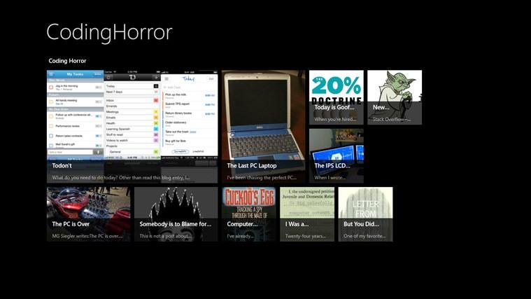 CodingHorror screen shot 0